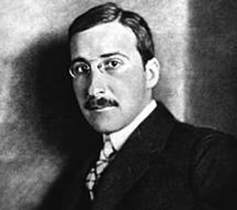 Stefan Zweig, ca. 1912. Source: Wikipedia.