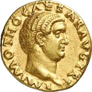 Nr. 579A. Römische Kaiserzeit. OTHO, 69. Aureus. RIC 7. Selten. Gutes vorzüglich. Schätzung: 50.000 Euro. Endpreis: 80.500 Euro.