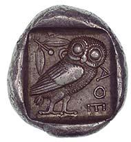 Athen (Griechenland), Tetradrachmon, Silber (17,2 g), um 455 v. Chr.