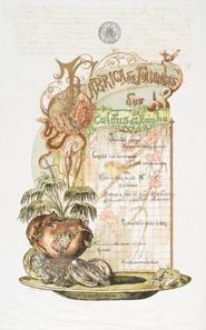 Fabrica de Faiancas das Caldas das Reinha, Lissabon, Aktie über 20 Milreis vom 30. Juni 1884.