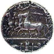 Syrakus (Sizilien), Dekadrachmon, Silber (43,3 g), um 405 v. Chr.