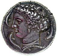 Syracuse (Sicily), decadrachm, silver (43.3 g), ca. 405 BC