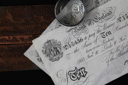 Operation Bernhard fälschte in gigantischem Maß britisches Geld. Foto: Geldmuseum.