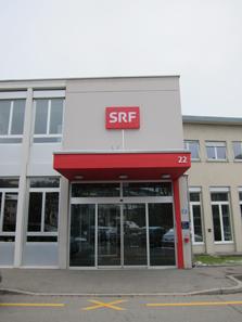 Eingang zum Schweizerischen Rundfunk. Foto: UK.