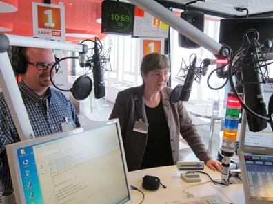 Zu Gast im Studio: Marius Haldimann und Ursula Kampmann. Foto: S. Wüthrich.
