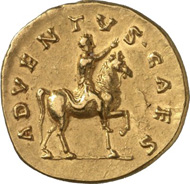 857: Roman Imperial Times. COMMODUS, 180-192. Aureus, 175/6. RIC 604. Extremely fine splendid specimen. Estimate: 30,000 euros. Hammer price: 50,000 euros.