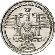 3281: POLAND. Republic, 1919-1939. Pattern of 100 zlotych 1925, Warsaw, in silver. Mintage only 100 specimens. PP. Estimate: 1,500 euros. Hammer price: 8,500 euros.