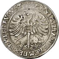 4801: Germany. SAXONY. Frederick III, 1486-1525. 1/2 guldengroschen n. y, minted in Nuremberg. Keilitz 72. Very fine. Estimate: 20,000 euros. Hammer price: 28,000 euros.