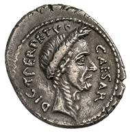 C. Julius Caesar, denarius, silver (3.7 g), March 44 BC