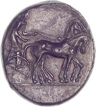 Katane (Sicily). Tetradrachm. From Bank Leu auction 71 (1997), 50.