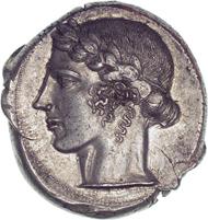 Leontini (Sicily). Tetradrachm. From Triton auction I (1997), 257.