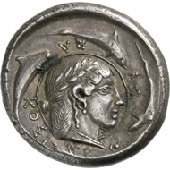 Syracuse (Sicily). Tetradrachm of the Demareteion series. From Bank Leu auction 76 (1999), 54.