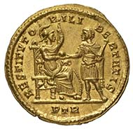 Constantine I, Roman emperor 307-337, solidus, gold (4.45 g), 314, Trier