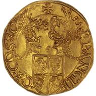 Gian Galeazzo Maria Sforza of Milan. Double ducat. From Bank Leu auction 68 (1996), 359.