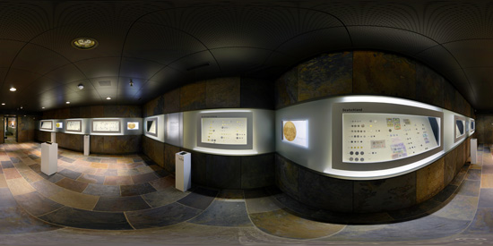 Treasures under earth: The gold room houses part of the coin collection of the MoneyMuseum. © MoneyMuseum, Zurich.