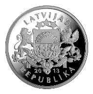 Latvia / 20 lats / .925 silver / 21.75mm / 11g / Design: Gunars Lusis (graphic design), Janis Strupulis (plaster model) / Mintage: 10,000.