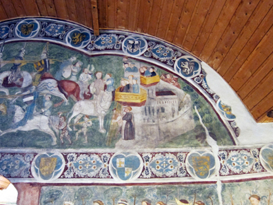 A section from the depiction of the jousting. Photo: KW.