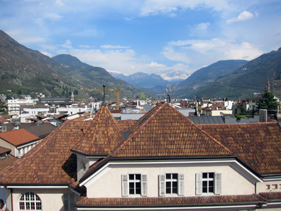 Ausblick vom Stadtmuseum Bozen. Foto: KW.