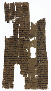 Ancient list of Olympic champions from 480-468 and 456-448 BC, third century AD. Source: Wikipedia.