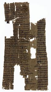 Antike Liste von Olympiasiegern von 480-468 und 456-448 v. Chr., 3. Jh. n. Chr. Quelle: Wikipedia.
