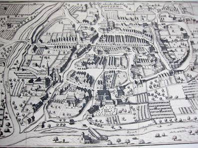 Bolzano city plan. By Gabriel Bodenehr from 1710/20. Photo: KW.