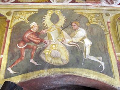 Das Wappen der Vintler mit den zwei weißen Bärentatzen. Foto: KW.