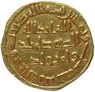 Abd al-Malik, Kalif und Herrscher des Omajadenreichs 685-705, Dinar, Gold (4,23 g), 83 AH (= 702), Damaskus