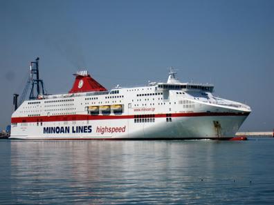 From Ancona to Igoumenitsa with Minoan Lines. Photo: KW.