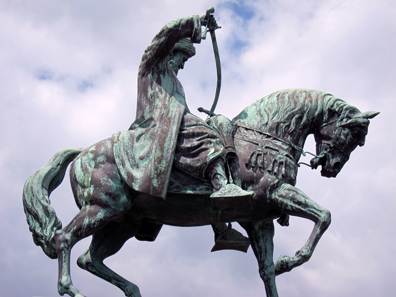 Statue for Mehmed Ali, Viceroy of Egypt. Photo: KW.)