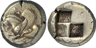 Lampsakos (Mysien). Stater, Ende 6. / Anfang 5. Jh. v. Chr. Gorny & Mosch Mosch 199 (2011), 355.