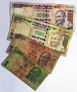 Indische Banknoten. Foto: Schallaburg, Schallaburg Kulturbetriebsges.m.b.H.