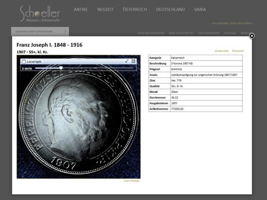So wirkt ein und dieselbe Münze in verschiedenen Ansichten.