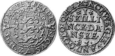 Denmark. 1 Skilling 1583. Silver. From auction sale Leipziger Münzhandlung und Auktion Heidrun Höhn 47 (2005), 572.