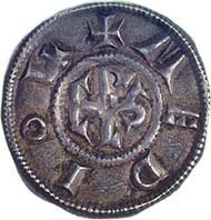 Charlemagne, ruler of the Carolingian Empire 768-814, penny, silver (1.72 g), Milan, after 793/4