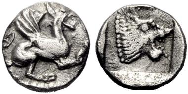 Assos (Troas). Obol, 475-450. From Münzen und Medaillen 36 (2012), 360.