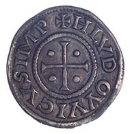Louis the Pious, ruler of the Carolingian Empire 814-840, penny, silver (1.66 g), Italy(?), after 814