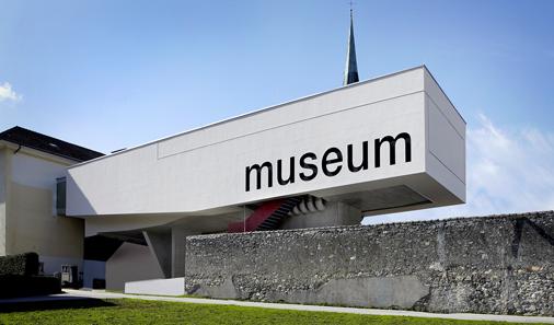 Außenfassade des neuen Museum der Völker in Schwaz.