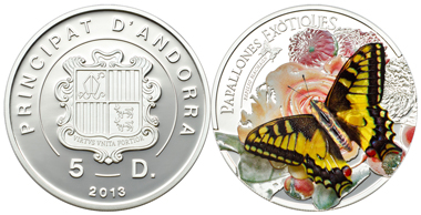Andorra / 5 Diners / Silver .925 / 25 g / 38.61 mm / Mintage: 2,500.