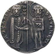 Venedig, Jacopo Contarini, Doge 1275-1280, Matapan, Silber (2,18 g), o. J.