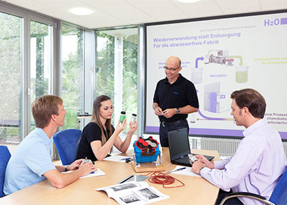 Training programmes are a central aspect in H2O's customer care.