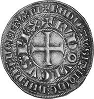 Ludwig IX., König von Frankreich, 1226-1270. Gros tournois, Silber (4,22 g)
