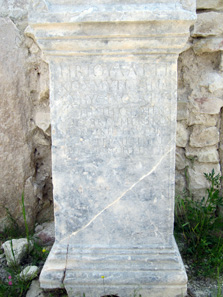 Inscriptions in Alexandria Troas. Photo: KW.