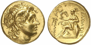 Lysimachus. Gold stater, 297/6-282/1, Alexandria Troas. From Gorny & Mosch auction 207 (2012), 115.