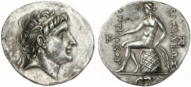 Antiochus Hierax, 241-227. Tetradrachm, Alexandria Troas. From Gorny & Mosch auction 207 (2012), 409.
