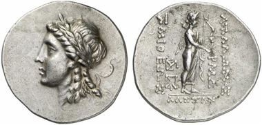 Alexandria Troas. Tetradrachm, ca. 102/1-66/5. Rev. Apollo Smintheus. From Gorny & Mosch auction 207 (2012), 284.