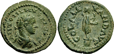 Alexandria (Troas). Caracalla, 197-217. Bronze. From Lanz 150 (2010), 336.
