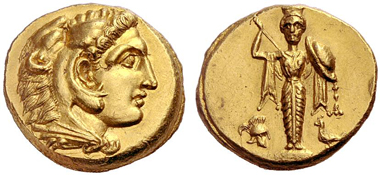 Pergamum. Heracles, son of Alexander the Great, + 309(?). Gold stater, prior to 309. Lanz 149 (2010), 172.