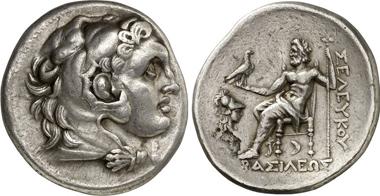 Seleukos I. Tetradrachmon um 280, Pergamon. Gorny & Mosch 204 (2012), 1584.