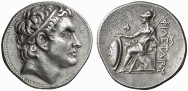 Philetaerus for Seleucus. Tetradrachm, ca. 269/8-263. Lanz 125 (2005), 342.