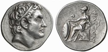 Philhetairos für Seleukos. Tetradrachmon, ca. 269/8-263. Lanz 125 (2005), 342.